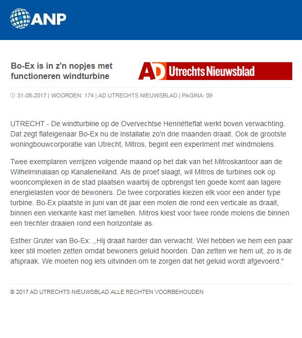 AD Utrechts Nieuwsblad nieuwsbericht